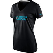 Nike Women's Carolina Panthers Everyday Legend Black V-Neck T-Shirt