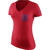 Nike Women's New England Patriots Historic Pocket Red T-Shirt