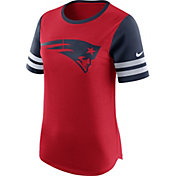 Nike Women's New England Patriots Modern Fan White Short-Sleeve Top
