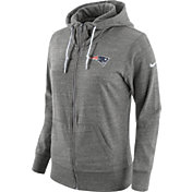 Nike Women's New England Patriots Tailgate Vintage Grey Full-Zip Hoodie