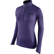 Nike Women's Baltimore Ravens Tailgate Element Quarter-Zip Purple Pullover