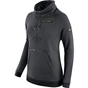 Nike Women's New Orleans Saints Salute to Service 2016 Rally Funnel Neck Pullover