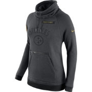 Nike Women's Pittsburgh Steelers Salute to Service 2016 Rally Funnel Neck Pullover