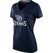 Nike Women's Tennessee Titans Everyday Legend Navy V-Neck T-Shirt