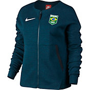 Nike Women's Team Brazil Tech Fleece Full Zip Jacket