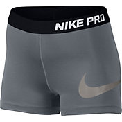 Nike Women's 3'' Pro Cool Metallic Graphic Shorts