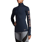 Nike Women's Pro Warm JDI Metallic Long Sleeve Half Zip Shirt