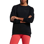 Nike Women's Quilted Sportswear Rally Fleece Crewneck Sweatshirt