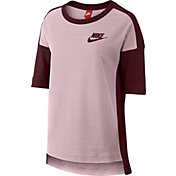 Nike Women's Rally Plus Crew 3/4 Length Sleeve Shirt