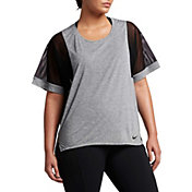 Nike Women's Plus Size Breathe Versa Short Sleeve Shirt