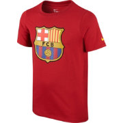 Nike Youth Barcelona 15/16 Red Crest T-Shirt