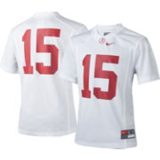 Nike Youth Alabama Crimson Tide White #15 Game Football Jersey