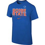 Nike Youth Boise State Broncos Blue Core Facility Football Sideline T-Shirt