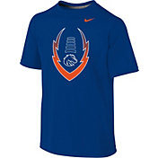 Nike Youth Boise State Broncos Blue Football Icon Legend T-Shirt