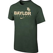 Nike Youth Baylor Bears Green Core Facility Football Sideline T-Shirt