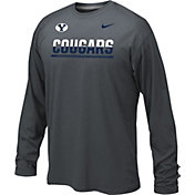 Nike Youth BYU Cougars Anthracite Staff Sideline Long Sleeve Shirt