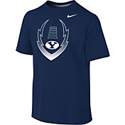 Nike Youth BYU Cougars Blue Football Icon Legend T-Shirt