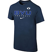 Nike Youth BYU Cougars Blue Core Facility Football Sideline T-Shirt