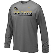 Nike Youth UCF Knights Anthracite Staff Sideline Long Sleeve Shirt
