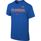 Nike Youth Florida Gators Blue Core Facility Football Sideline T-Shirt