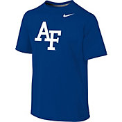 Nike Youth Air Force Falcons Blue Sideline Logo Legend T-Shirt