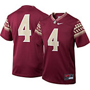 Nike Youth Florida State Seminoles #4 Garnet Game Football Jersey
