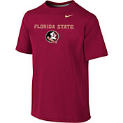 Nike Youth Florida State Seminoles Garnet Sideline Logo Legend T-Shirt