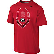 Nike Youth Georgia Bulldogs Red Football Icon Legend T-Shirt
