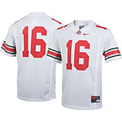 Nike Youth Ohio State Buckeyes White #16 Game Football Jersey