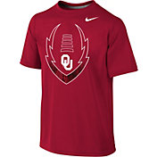 Nike Youth Oklahoma Sooners Crimson Football Icon Legend T-Shirt