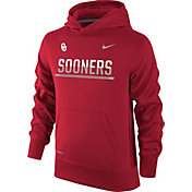 Nike Youth Oklahoma Sooners Crimson Therma-FIT Hoodie