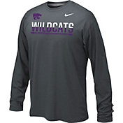 Nike Youth Kansas State Wildcats Anthracite Staff Sideline Long Sleeve Shirt