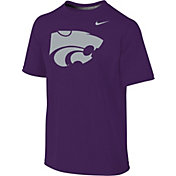 Nike Youth Kansas State Wildcats Purple Sideline Logo Legend T-Shirt