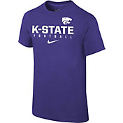 Nike Youth Kansas State Wildcats Purple Core Facility Football Sideline T-Shirt