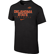 Nike Youth Oklahoma State Cowboys Black Core Facility Football Sideline T-Shirt