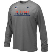 Nike Youth Illinois Fighting Illini Anthracite Staff Sideline Long Sleeve Shirt