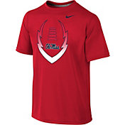 Nike Youth Ole Miss Rebels Red Football Icon Legend T-Shirt