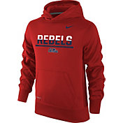 Nike Youth Ole Miss Rebels Red Therma-FIT Hoodie