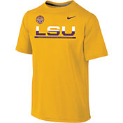 Nike Youth LSU Tigers Gold Legend Staff Sideline T-Shirt