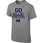 Nike Youth Michigan Wolverines Grey 'Go Blue' Local Verbiage T-Shirt