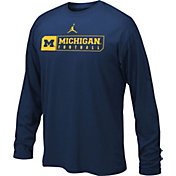 Jordan Youth Michigan Wolverines Blue Football Legend Long Sleeve Shirt