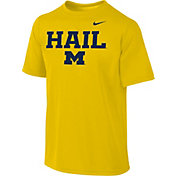 Nike Youth Michigan Wolverines Maize 'Hail' Authentic Local T-Shirt