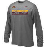 Nike Youth Minnesota Golden Gophers Anthracite Staff Sideline Long Sleeve Shirt