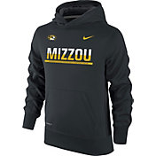 Nike Youth Missouri Tigers Black Therma-FIT Hoodie