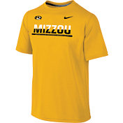 Nike Youth Missouri Tigers Gold Legend Staff Sideline T-Shirt