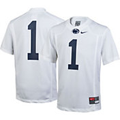 Nike Youth Penn State Nittany Lions White #1 Game Football Jersey