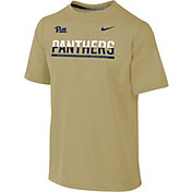 Nike Youth Pitt Panthers Gold Legend Staff Sideline T-Shirt