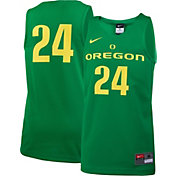 Nike Youth Oregon Ducks #24 Apple Green Replica Basketball Jersey