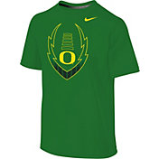 Nike Youth Oregon Ducks Apple Green Football Icon Legend T-Shirt