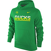 Nike Youth Oregon Ducks Apple Green Therma-FIT Hoodie